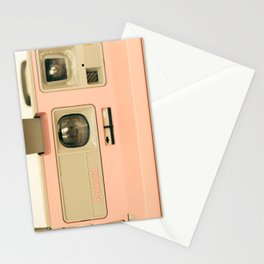 Pink Pola Love vintage camera Stationery Cards