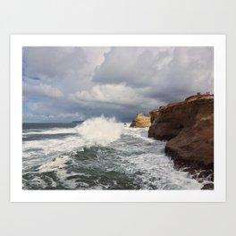 Like Water Upon Rock Art Print