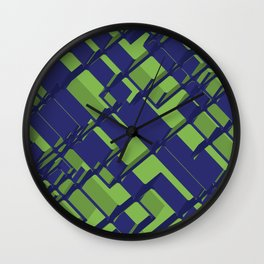 3D Abstract Futuristic Background III Wall Clock