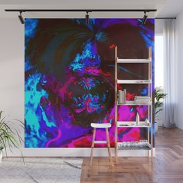 Neon Acrylic Fluid Pour Abstract Painting Wall Mural