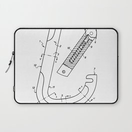 Rock Climbing Patent - Climber Art - Black And White Laptop Sleeve