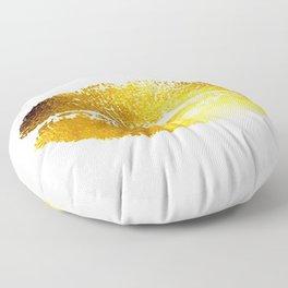Lips Gold Floor Pillow