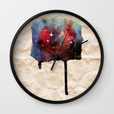 Little Nebula Watercolor Wall Clock