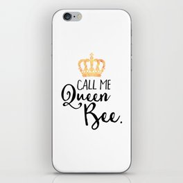 Queen Bee Funny Quote iPhone Skin