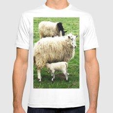 We Like Sheep MEDIUM White Mens Fitted Tee