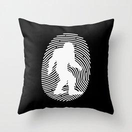 Bigfoot Fingerprint DNA Throw Pillow