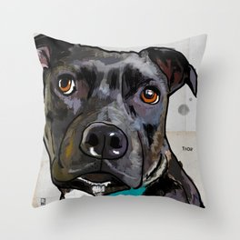 Dog: Staffordshire Bull Terrier Throw Pillow