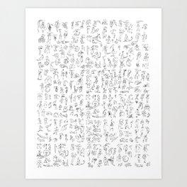 Esserini Schizzati Art Print