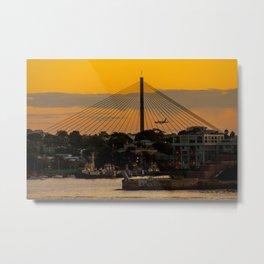 Sunset over Anzac Bridge, Sydney Metal Print