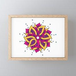 Lotus Mandala Framed Mini Art Print