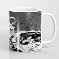 cafe Mugs featuring cafe by Emily Baker Photography and Design