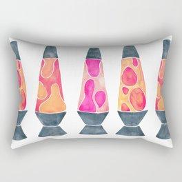 Retro Vibes – Peachy Pink Palette Rectangular Pillow