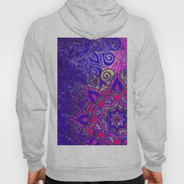 -A15- Colored Moroccan Mandala Artwork. Hoody