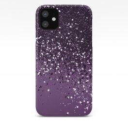 PURPLE Glitter Dream #1 #shiny #decor #art #society6 iPhone Case