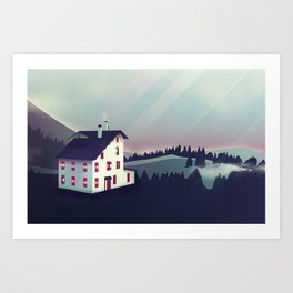 Castle in the Mountains Art Print