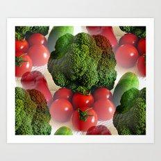 Healthy Vegetables Art Print