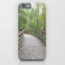 Walking Bridge in the Woods iPhone Case