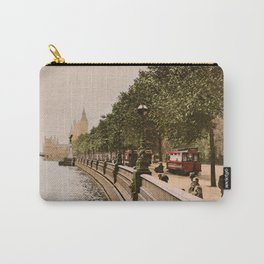 Vintage The Embankment, River Thames, London Carry-All Pouch