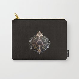 Saraswati Mandala Black Carry-All Pouch