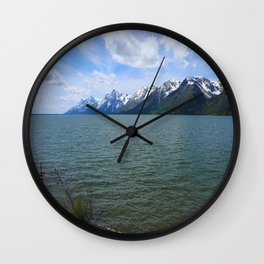 Jackson Lake Impression Wall Clock