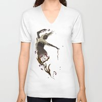 crane V-neck T-shirts featuring Crane  by Devon Busby Busbyart