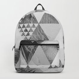 Triangle pattern in grayscale version Backpack