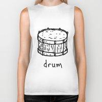 drum Biker Tanks featuring drum by Isaac Collmer