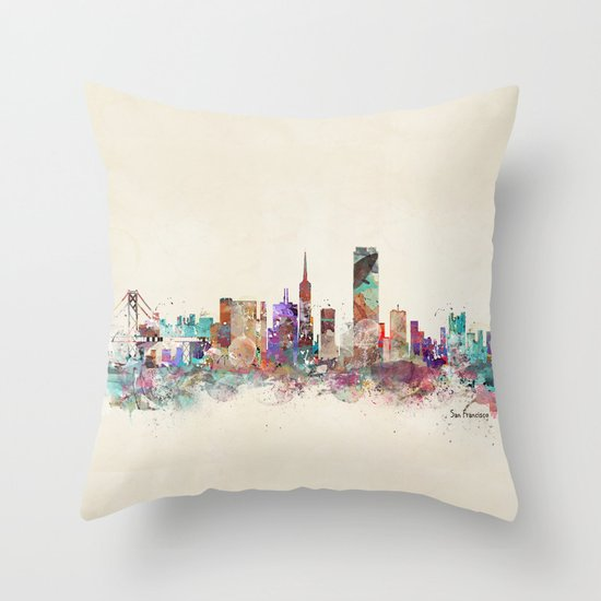 Decorative Pillows San Francisco : San Francisco city Throw Pillow by Bri.buckley Society6