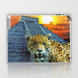 Chichen Itza Temple Guardian - South American Jaguar Laptop & iPad Skin