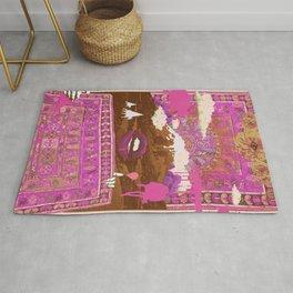 MORNING PSYCHEDELIA (Purple/pink) Rug