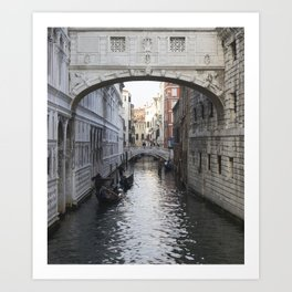 Venetian Canal Art Print