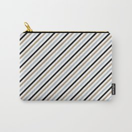 Black & Gold Stripes Carry-All Pouch