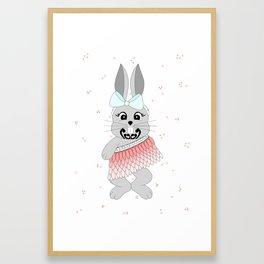 Miss Rapeti (peachy perfect) Framed Art Print