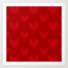 valentines red heart Art Print