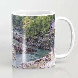Rain on McDonald Creek in Glacier NP Coffee Mug