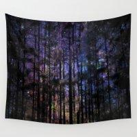 madoka magica Wall Tapestries featuring Twilight Woodlands by Judy Palkimas