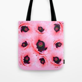 PINK POPPIES COLLAGE Tote Bag