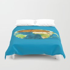 Coffee World Duvet Cover