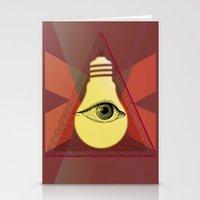 "illuminati Stationery Cards featuring ""Illuminati"" bulb by Oh! My darlink"