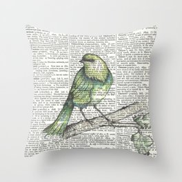 Green Is Cool Throw Pillow