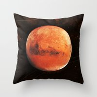 mars Throw Pillows featuring MARS by Alexander Pohl