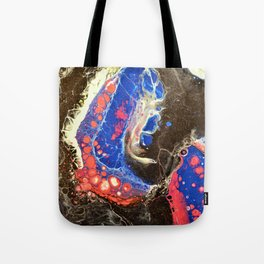 Starry Night, Fluid Art Tote Bag