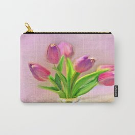 Painted Tulips Carry-All Pouch