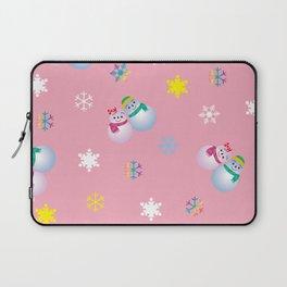 Snowflakes & Pair Snowman_B Laptop Sleeve