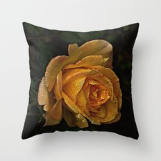 Rain Drop Rose II Throw Pillow