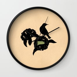 Connecticut - State Papercut Print Wall Clock