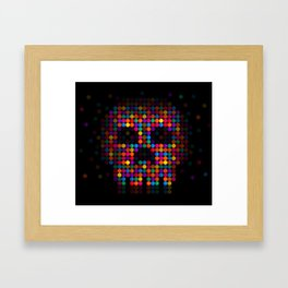 A Colorful Death by Qixel Framed Art Print