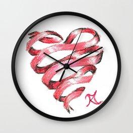 Ribbon Heart Wall Clock