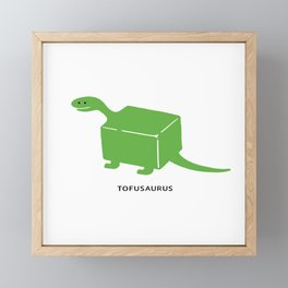 Tofusaurus Framed Mini Art Print