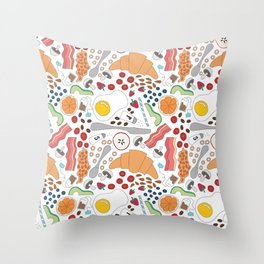 All day breakfast #2 Throw Pillow